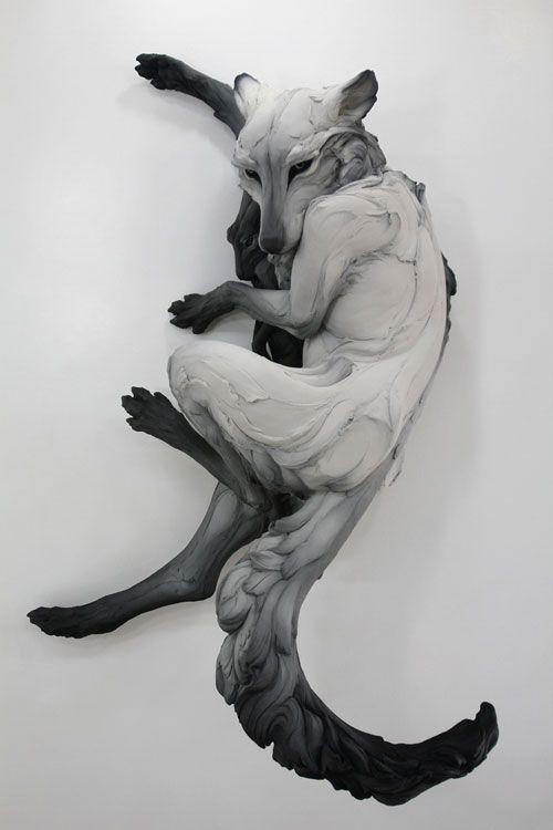 The Sentimental Question By Beth Cavener Stichter // Stoneware with Ceramic Glaze