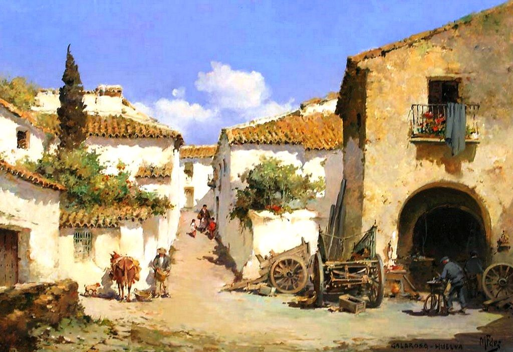 Cuadros modernos pinturas lbum de paisajes pintados al - Cuadros clasicos modernos ...