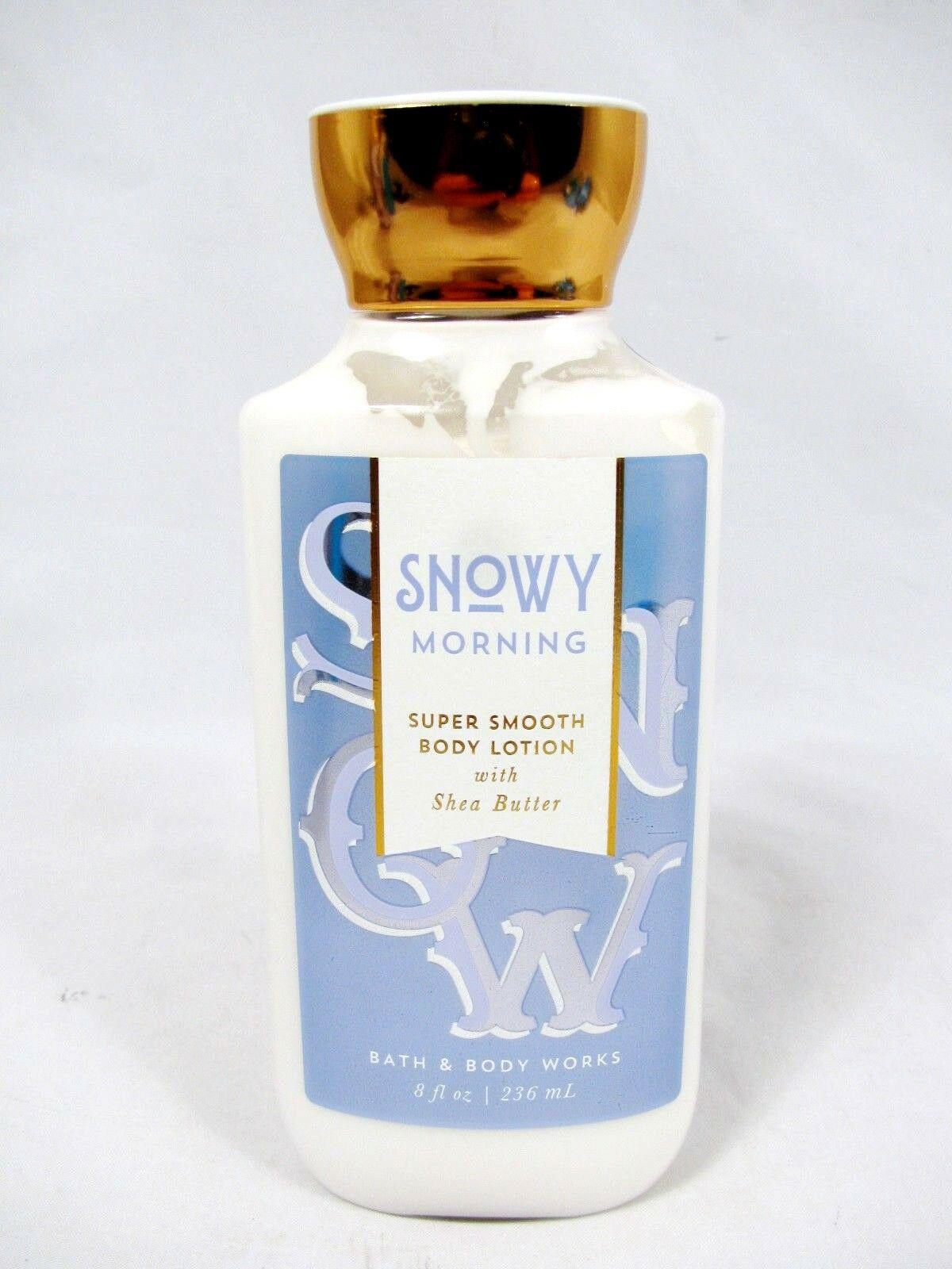 Bath body works snowy morning super smooth body lotion