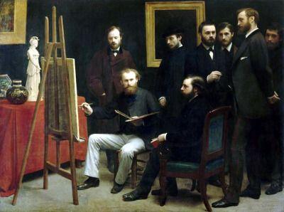 Henri Fantin-Latour - семинар в Батиньоль, 1870.