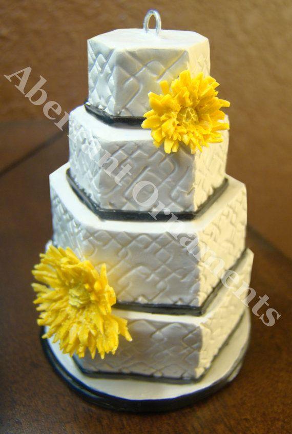 Custom Wedding Cake Ornaments by AberrantOrnaments. Keep a perfect ...