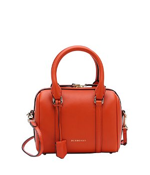 BURBERRY orange calfskin small 'Alchester' convertible bowling bag - on #sale 24% off @ #Bluefly  #Burberry