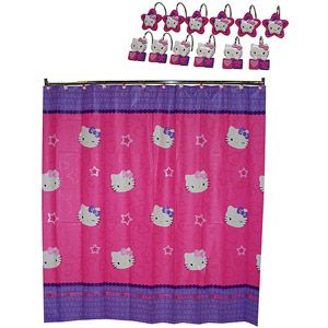 Sanrio Hello Kitty Kitty And Me Shower Curtain And Shower