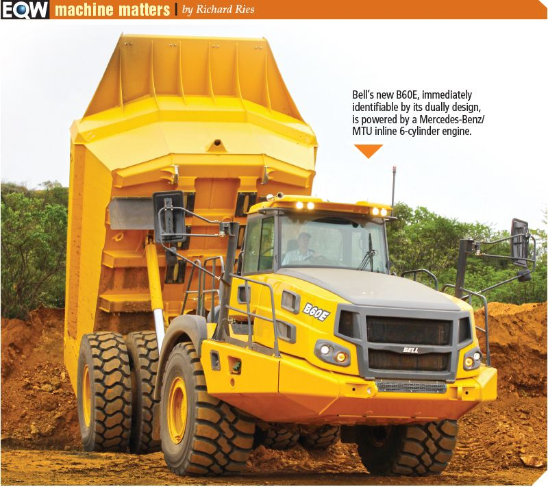 Bell B60e Worlds Largest Articulated Dump Truck Trucks Dump Truck Heavy Construction Equipment