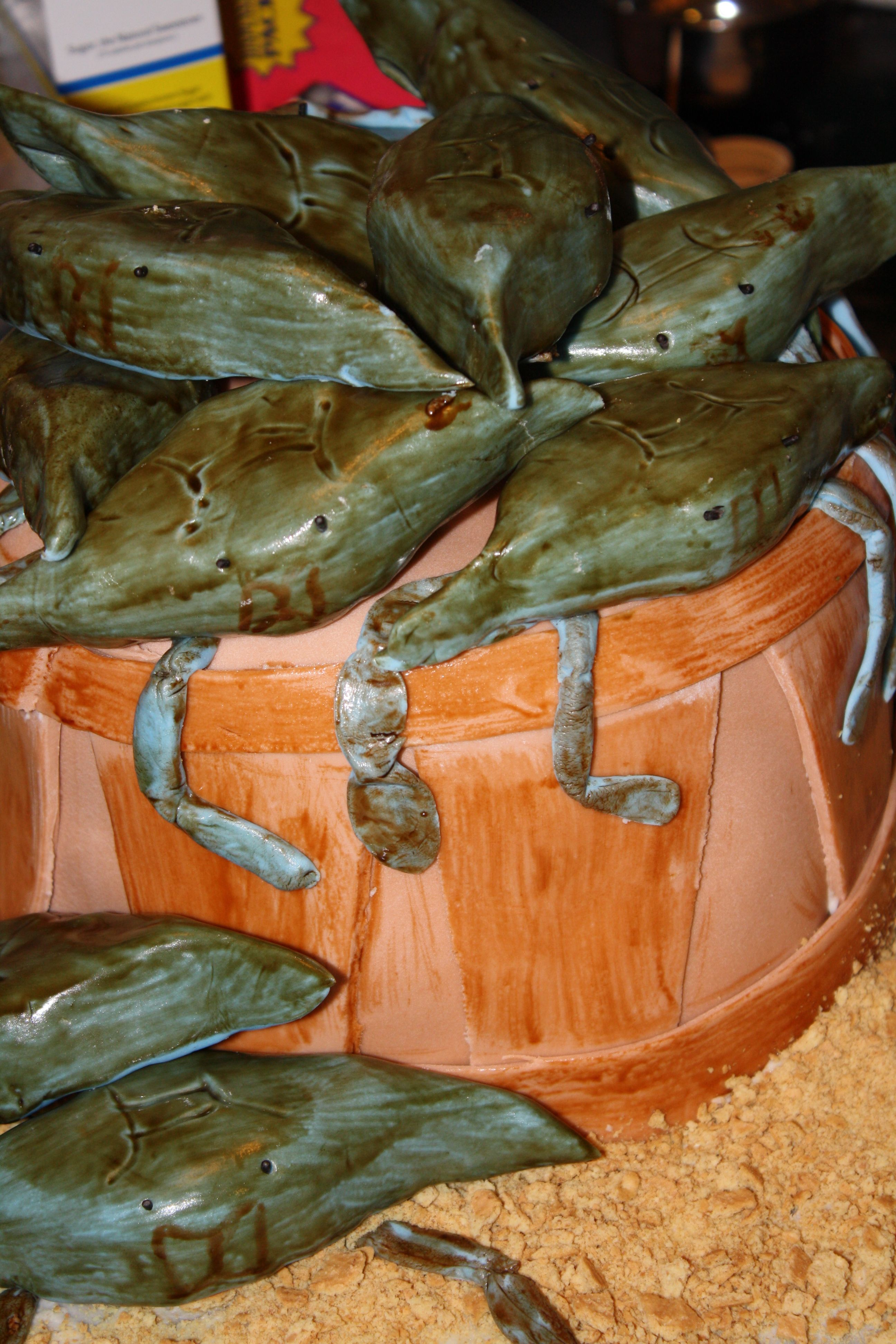 Bushel of crabs first time me and bf tried using fondant
