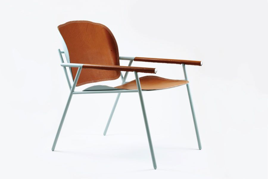 Ariel A lounge chair inspired by classic fixed gear bicycle. Designer: Joseph Kan