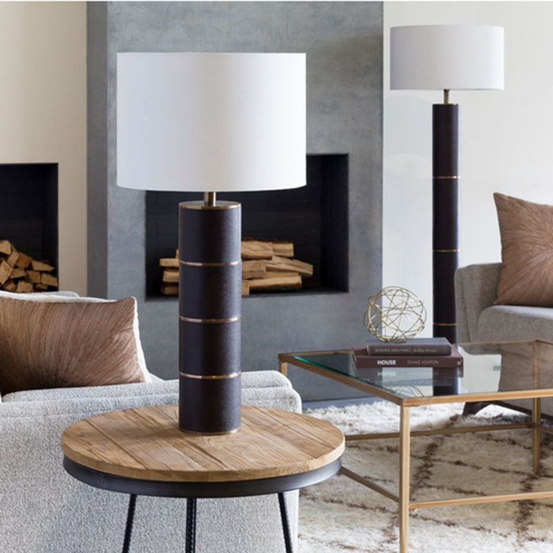 Knickerbocker Leather Table Lamp Table Lamp Traditional Floor Lamps Cool Floor Lamps