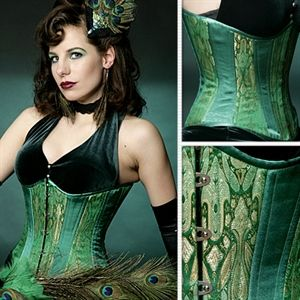 where to buy corset  pinup girl style  green corset