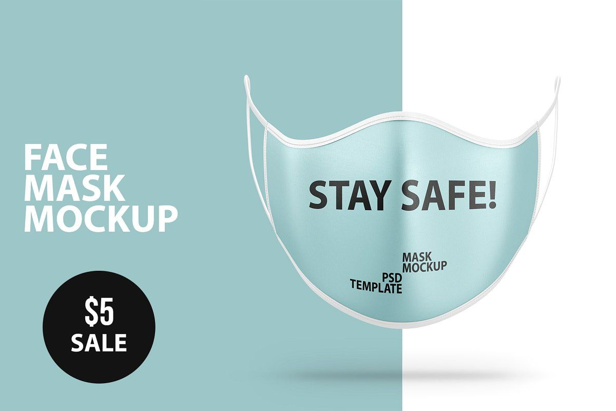 Download Anti Pollution Face Mask Psd Mockup Face Mask Mockup Psd Face Protection Mask
