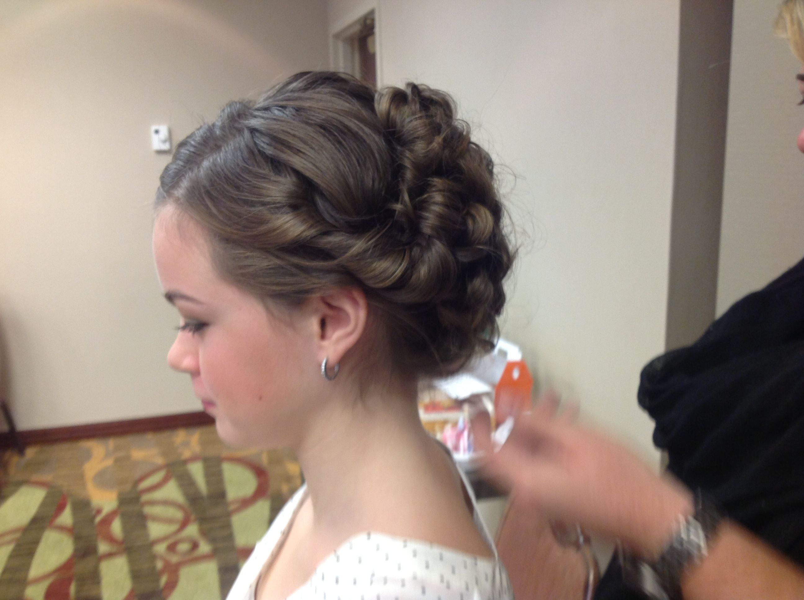 hair styles for brides updo for a junior bridesmaid phillip michael studio 5309