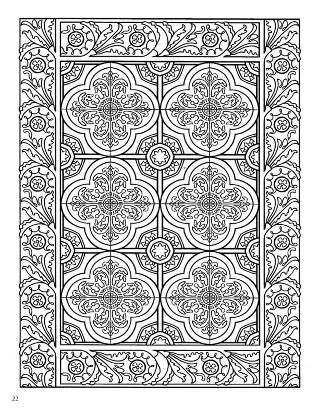 dover decorative tile coloring book patterns pinterest