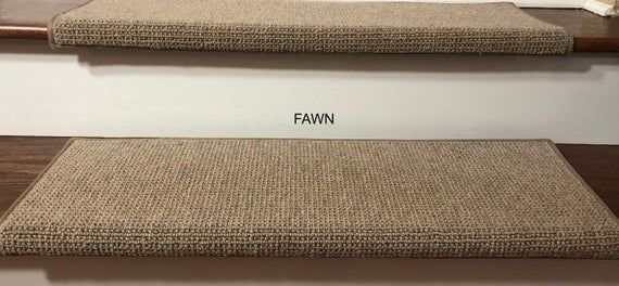 Best Padded Carpet Stair Treads Nantucket Fawn Carpet 640 x 480