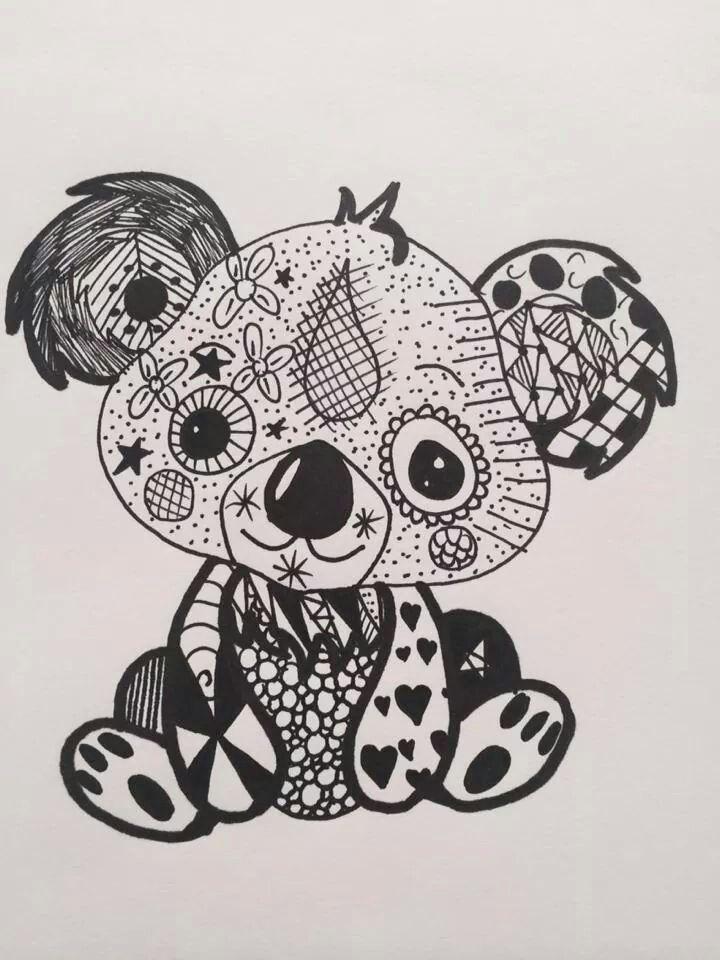 épinglé Par Sylvie Ridet Sur Drawing Bébé Koala Dessin