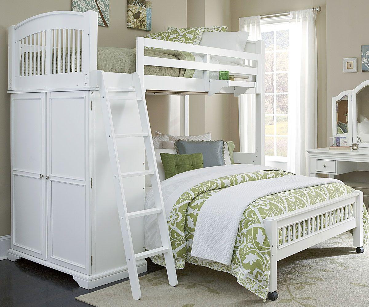 Twin Over Full Locker Loft Bunk Bed 8060 Walnut Street Collection Ne Kids Furniture Loft Bunk Beds Kids Loft Beds Loft Bed