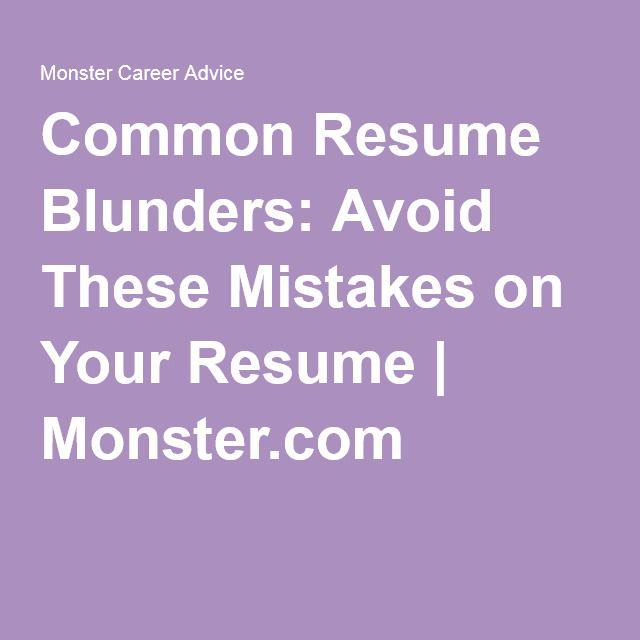 Be Sure Your Resume DoesnT Contain Any Of These  Common Resume