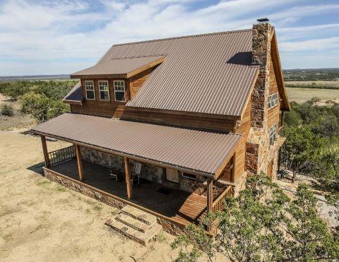 Best U Panel Saddle Leather Brown Metal Roofing Metal 400 x 300