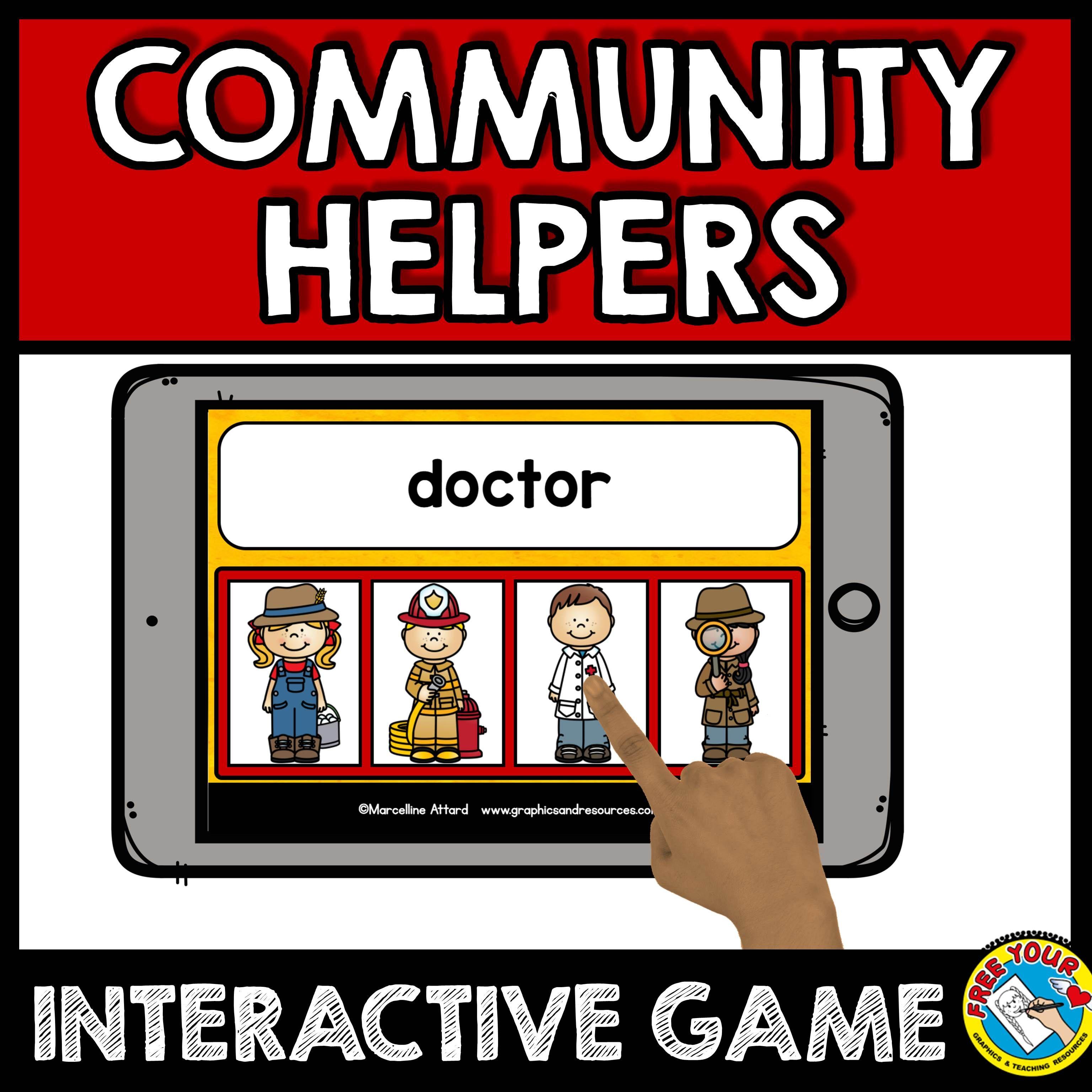 Boom cards ela community helpers preschool (labor day