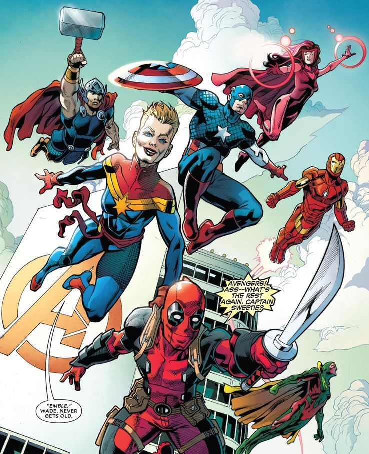The Avengers And The X Men Don T Get Together Often But Deadpool Is One Of The Only People That Can Make It Happen In 2020 Deadpool Avengers X Men