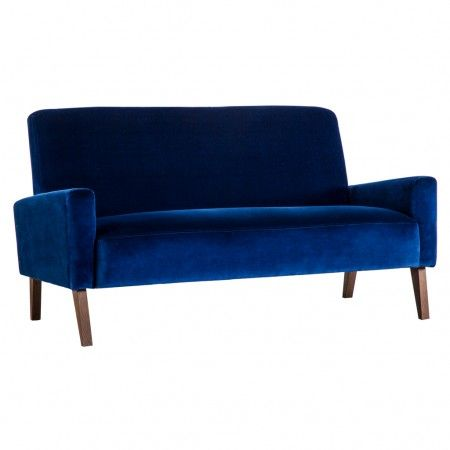 Marlon Sofa In Navy Velvet   Furniture   Summer Sale   Department   The  Conran Shop