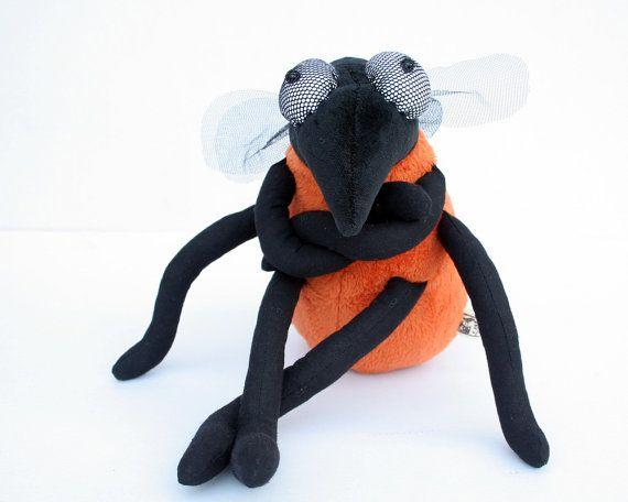 Funny Fruit Fly - Plush Toy, plushie Insect, orange softie, cuddly ...