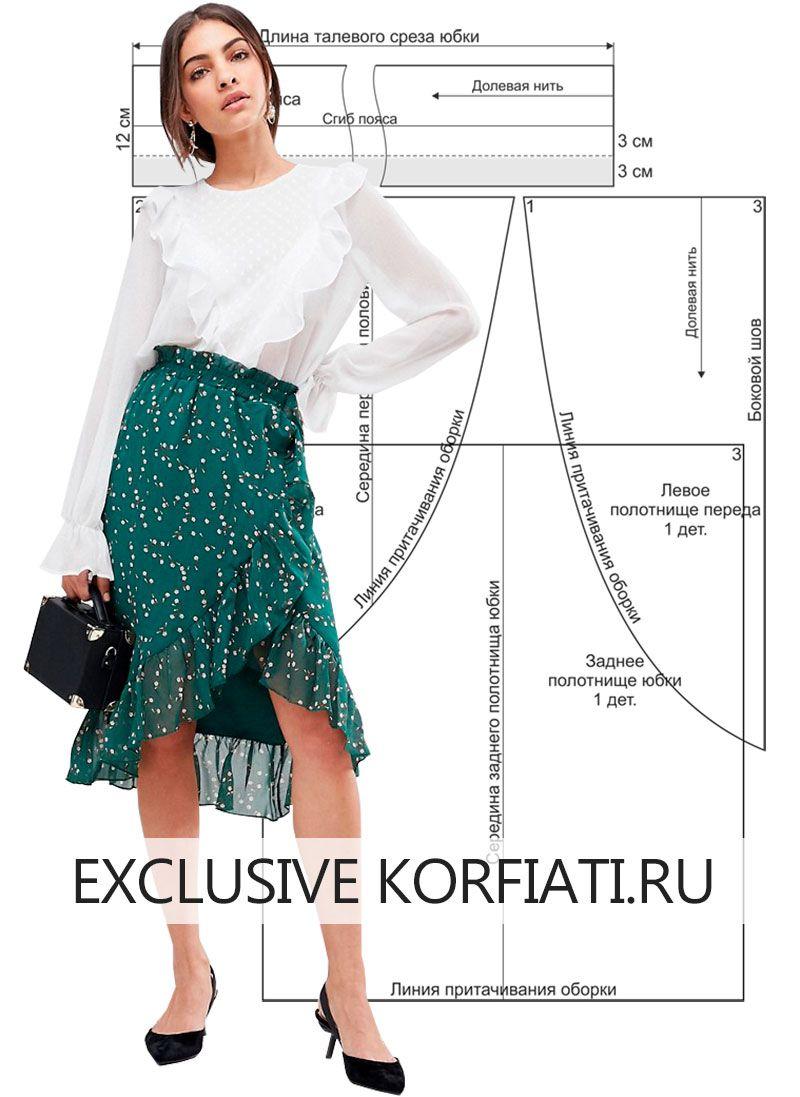 Как сшить юбку тюльпан без выкроек фото 75