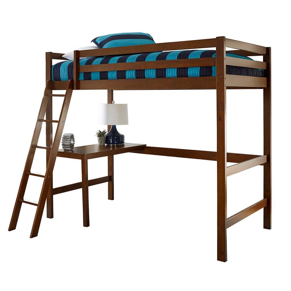 Hillsdale Furniture Caspian Walnut Twin Study Loft 2178 320 Loft Bed Twin Loft Bed Hillsdale Furniture