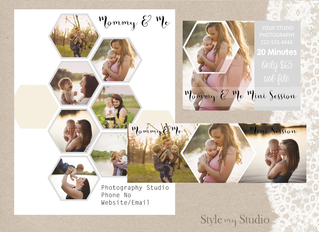 3 Piece Photography Marketing Set / facebook timeline / marketing board / marketing postcard