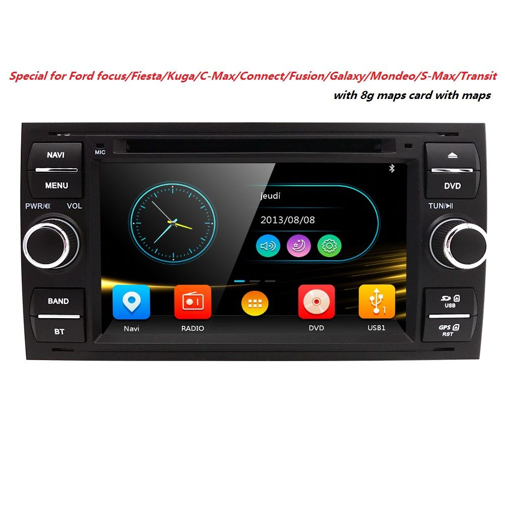 Two Din 7 Inch Car Dvd Player For Ford Mondeo S Max C Max Galaxy