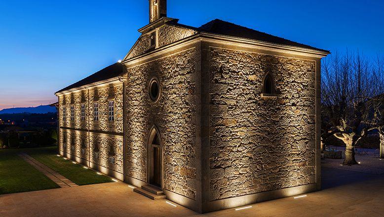 Pazo A Toxeiriña Illuminazione facciate, Edifici esterni