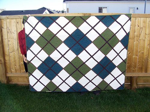 Argyle quilt - I love argyle! | Annie's favs | Pinterest | Quilt ... : golf quilt patterns - Adamdwight.com