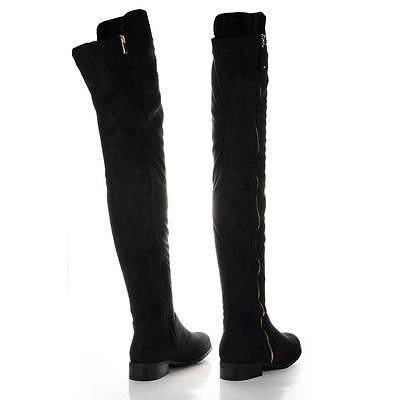 f142fbdcc08 Paulina1 Zip Up Thigh High Faux Suede Boots