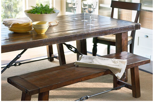 Elegant Iron Accents Give This Table An Awesome Industrial Look.