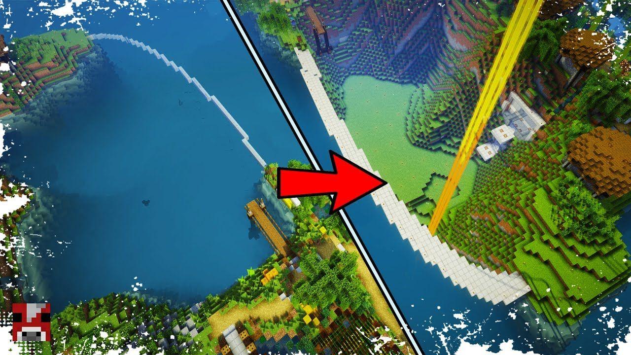 minecraft base ocean multiplayer draining timelapse update drain survival hanging