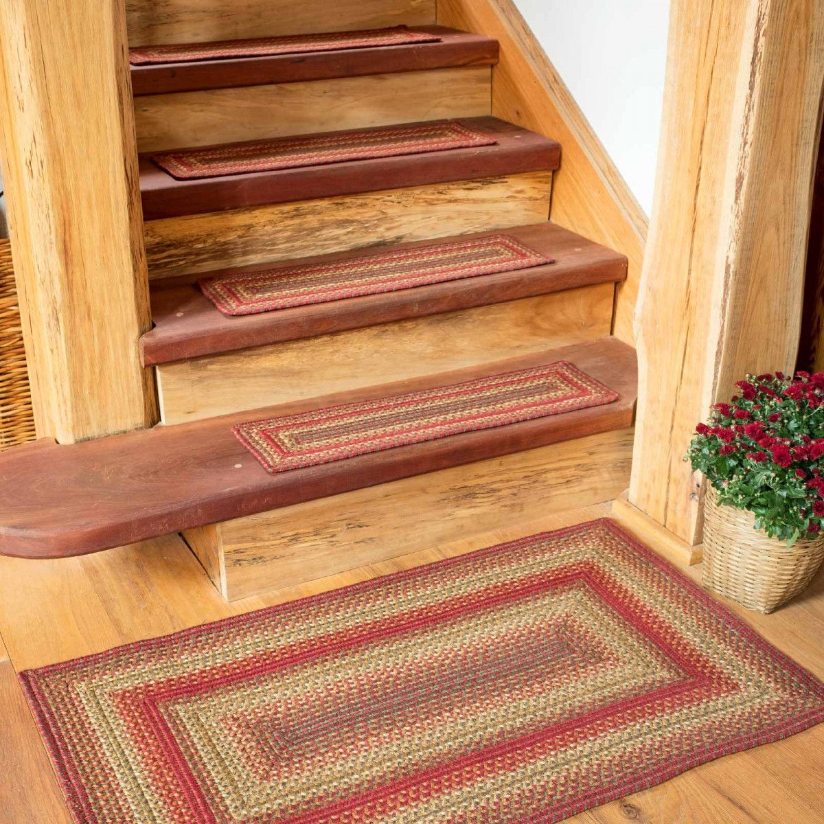 Best Cider Barn Red Jute Stair Tread Or Table Runner With 640 x 480
