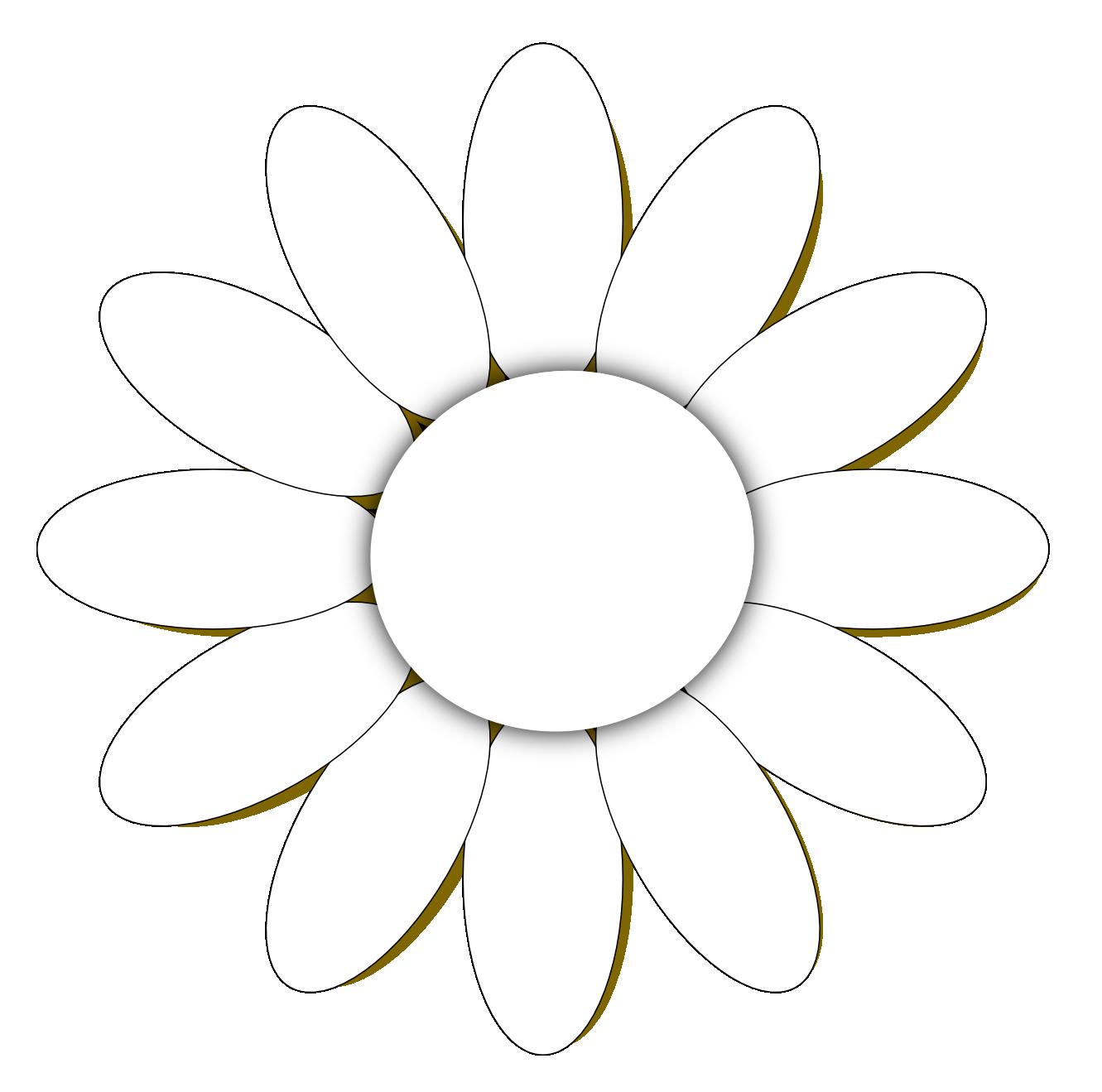 line art drawings of flowers daisy flower 1 black white