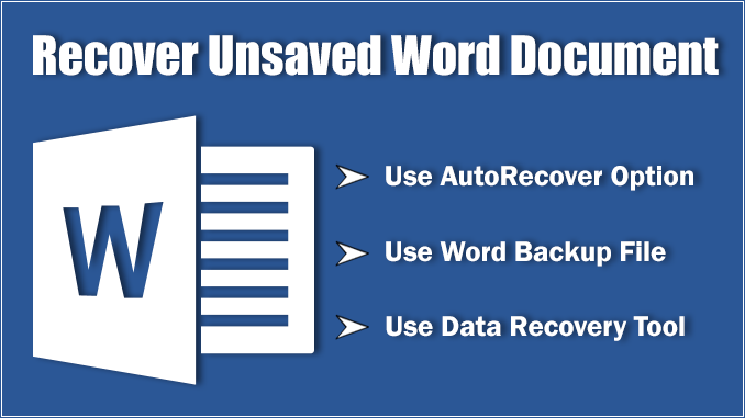 Many People Are Problem How To Recover Unsaved Word Document Microsoft Word Application Get Crashed And Haven T Saved Microsoft Word Document Words Documents