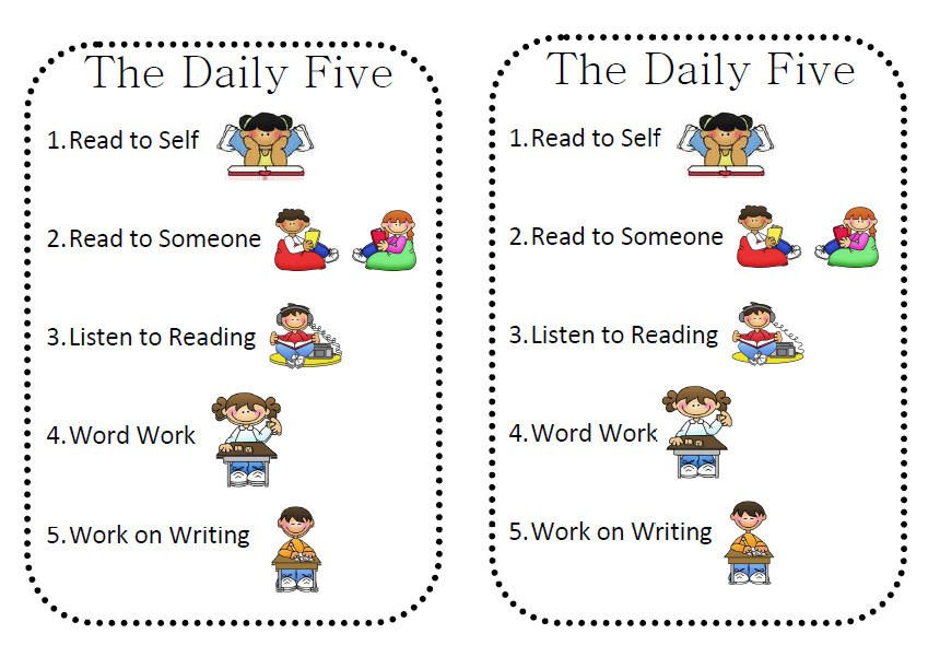 Daily 5 Cafe Printable Posters | iHeartLiteracy: Friday ...