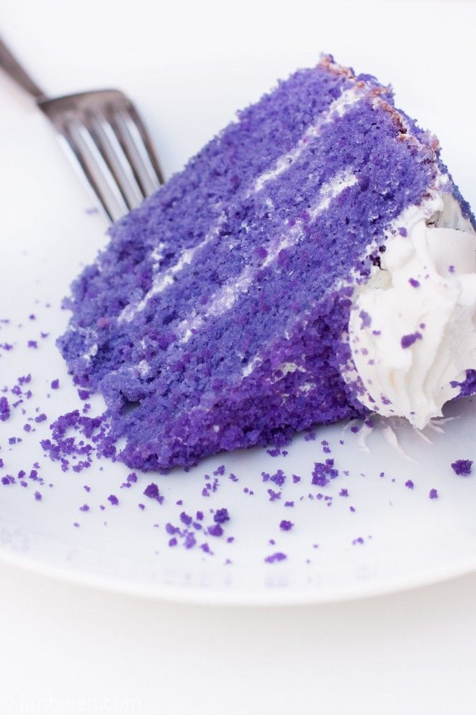 Ube (ooh-be) cake. Traditional cake from the Philippines ...