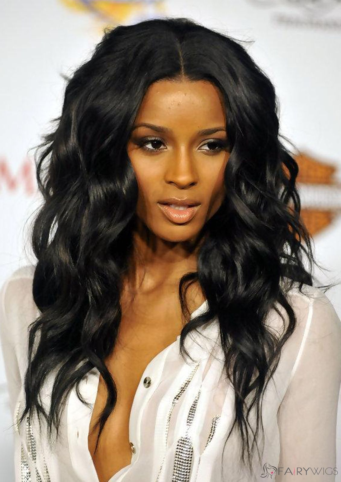 Faddish Long Wavy Black African American Lace Wigs for Women | Ciara hair, Wig hairstyles, Curly ...