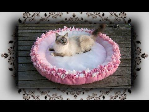 diy knoten kissen xl rund f r katzen hunde no sew cat bed youtube h keln und n hen f r. Black Bedroom Furniture Sets. Home Design Ideas