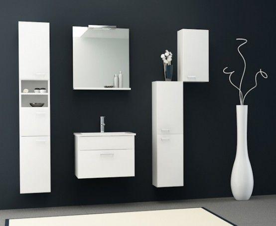 Kolpa-San Pixor 61 II fürdőszoba alsó szekrény mosdóval, tükörrel ...