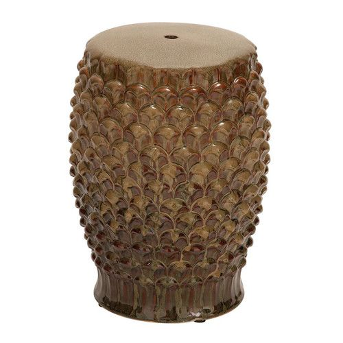 A textures garden stool makes a style statement indoors or out. | $115