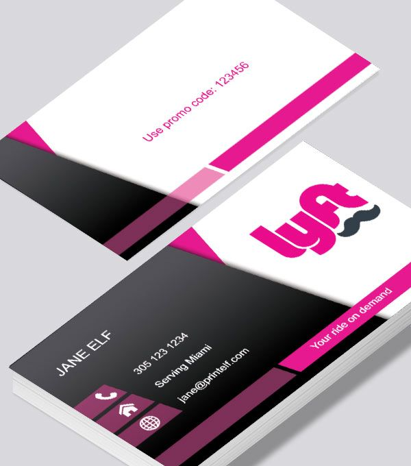 Beautiful lyft business card full color and contrasting colors beautiful lyft business card full color and contrasting colors online printing services you can reheart Images