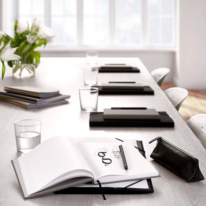 All you need for a successful meeting.  bookbindersdesign.ch