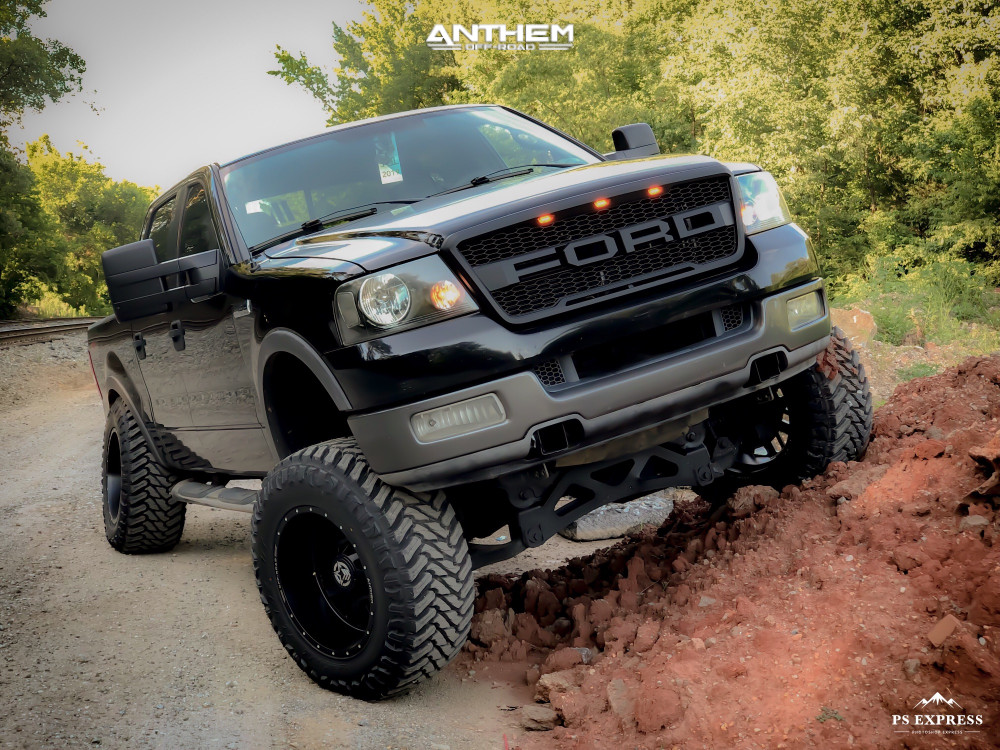 14 2005 F 150 Ford Fabtech Suspension Lift 6in Body 3in Anthem Gunner Matte Black Ford F150 Ford Trucks F150 Ford