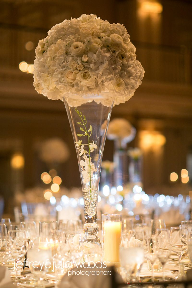 Wedding decorations natural  Luxe White Wedding  The Drake Hotel  Chicago  Chic Weddings
