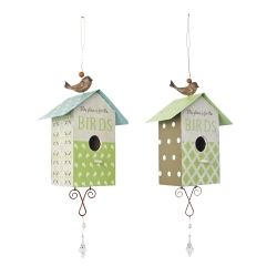 Vintage Look Wooden Bird House / Nesting Box For The Garden - Two Designs Available Garden Ornaments & Accessories #gardening #nature www.gardens2you.co.uk