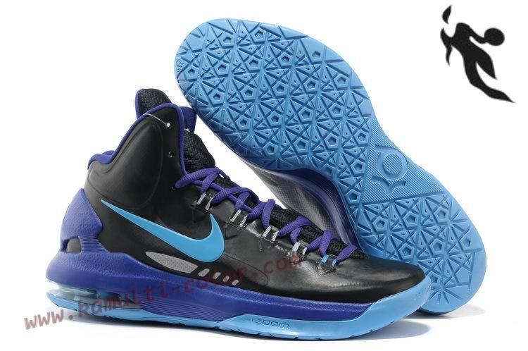big sale e82af 8f802 Nike Zoom KD V Black Pack Black Blue Glow Basketball Shoe