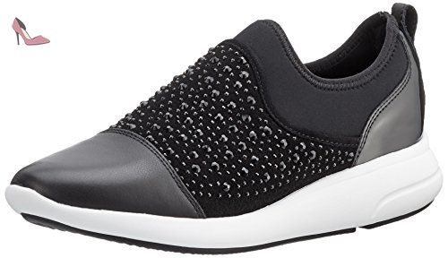 Geox D Omaya A, Sneakers Basses Femme, Noir (Blackc9999), 42 EU