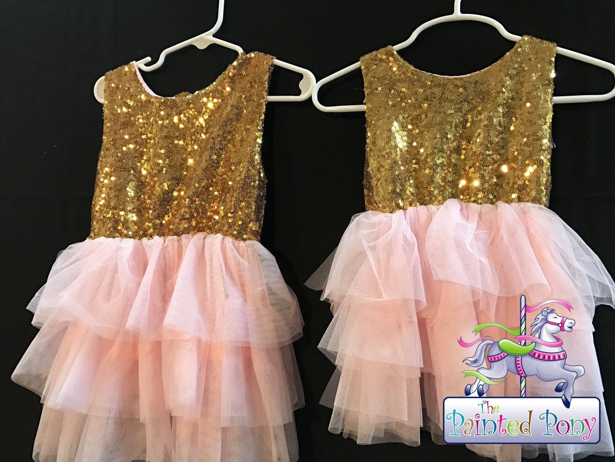Pink and gold dress by Fuerjiafushi, size 3 - 4, $10.99